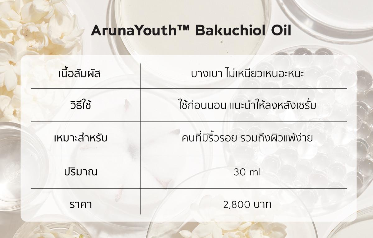 เรตินอล, bakuchiol, arunaYouth bakuchiol oil