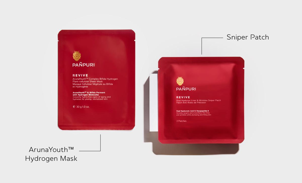มาสก์บำรุงผิวหน้า ลดริ้วรอย ArunaYouth™ Complex  Bifida Hydrogen Plant-cellulose Sheet Mask  มาสก์เฉพาะจุด ลดริ้วรอยตีนกา  ร่องแก้ม โหนกแก้ม Dual Hyaluron Lines & Wrinkles Sniper Patch