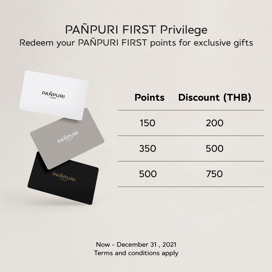 Redeem your PAÑPURI FIRST points
